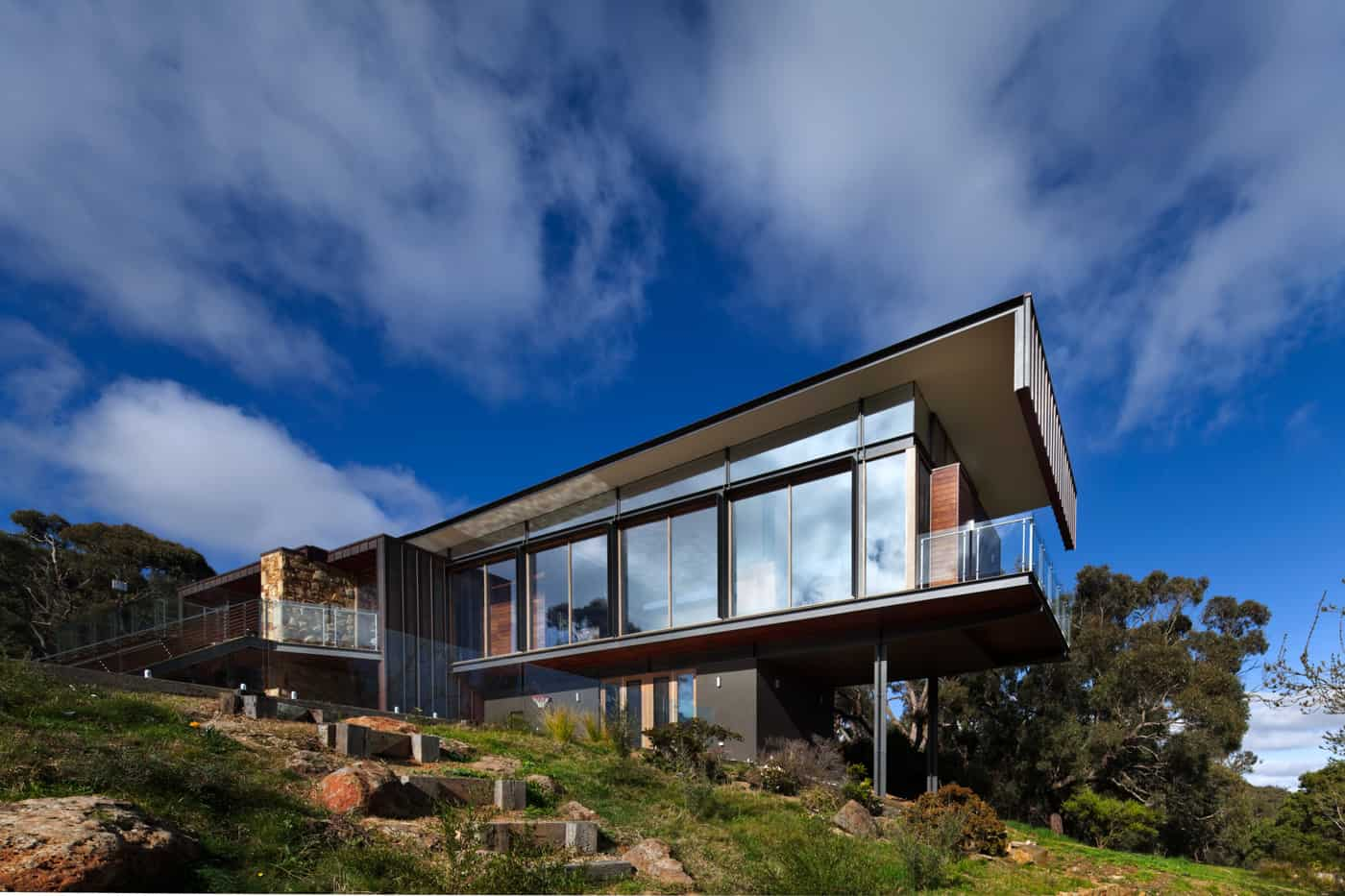 Cruciform architecture with magnificent mountain views
