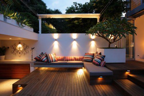 Modern courtyard garden design in Randwick