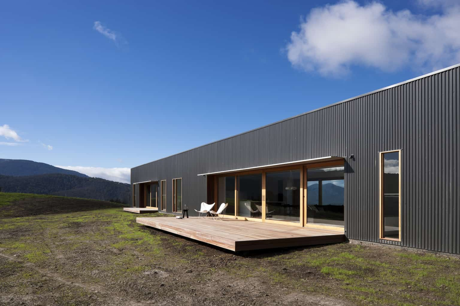 Contemporary farmhouse rises after the ashes
